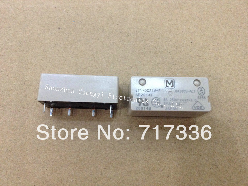 Relay ST1-DC24V-F ST1-24V 6pins Max switching current:8Amps power relay 100% new original 1 - Shops of electronic components store
