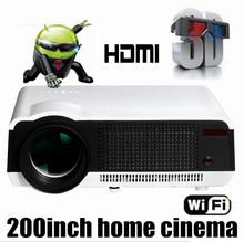 2016 mais novo Full HD projetor 5500 lumens LED Android4.4 wi fi inteligente multimídia de vídeo 3D projetor Full HD para home theater(China (Mainland))