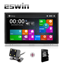 Car DVD Player 2 din Car DVD GPS Radio Head Unit Multimedia Bluetooth Audio Sliding Touch Screen Car dvd Free Map+free camera