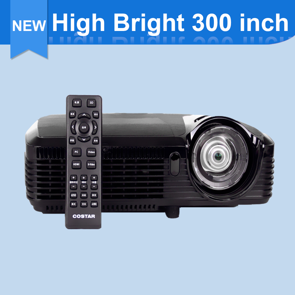 2016 New Home Cinema Multimedia 4000 ANSI Lumens Digital LED TV Projector, Support 1080P 720P HDMI VGA Wholesale Free Shipping(China (Mainland))