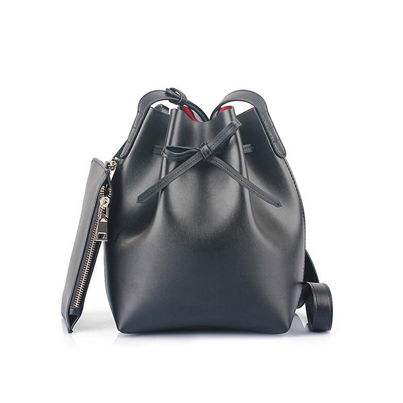 Fashion female shoulder bags bow messenger bags womens genuine leather handbag bucket lady 2015 new <br><br>Aliexpress