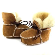 Quality Surfer Baby Sheepskin Shearling Booties Suedel Wool Boots Infant/Toddler Shoes Free Shipping
