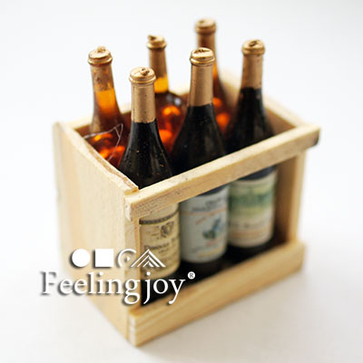 Bjd dollhouse furniture accessories red wine 6 bottle miniature doll food Vintage Wine 8 1:12 Dolls Accessory(China (Mainland))