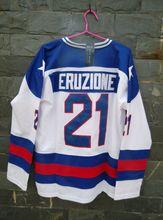 TIM VAN STEENBERGE 1980 Miracle On Ice Team USA Mike Eruzione 21 Hockey Jersey-White(China (Mainland))