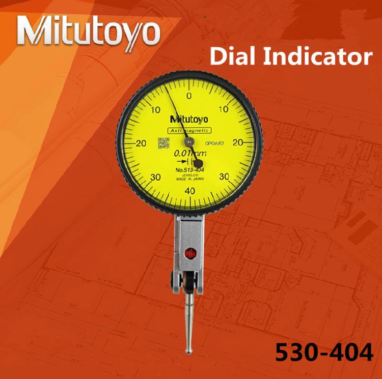 100% real product mitutoyo dial indicator 0-0.8mm/ 0.01mm gauge 513-404 dial test indicators reloj comparador gauging tools(China (Mainland))