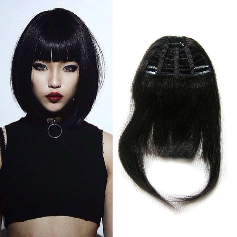 Top Quality Human Hair Bangs 100% Human Hair Clip Bangs 25g Straight Clip In Bangs Natural Human Hair Fringe