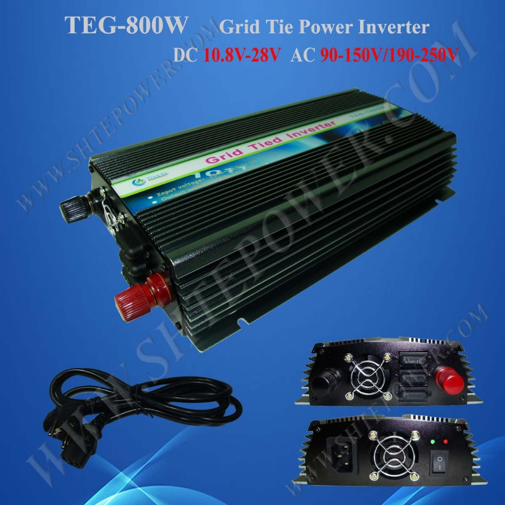 DC 10.8V-28V to AC Micro Solar Grid Tie Inverters 800W, Power Inverters(China (Mainland))