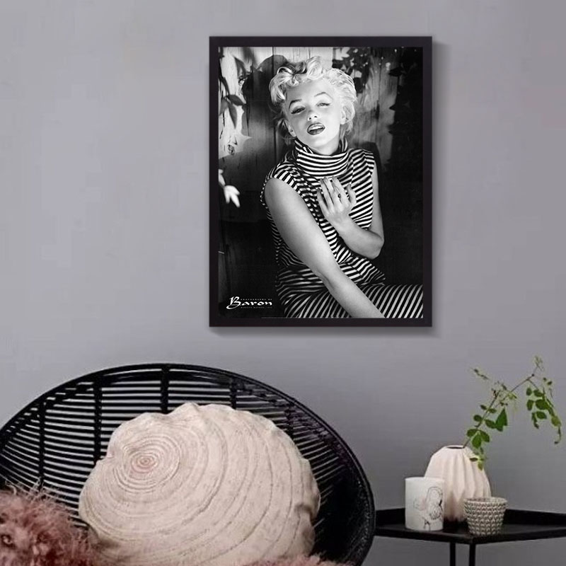 canvas oil painting marilyn monroe portrait canvas art home decor wall art wall pictures american actress poster no frame
