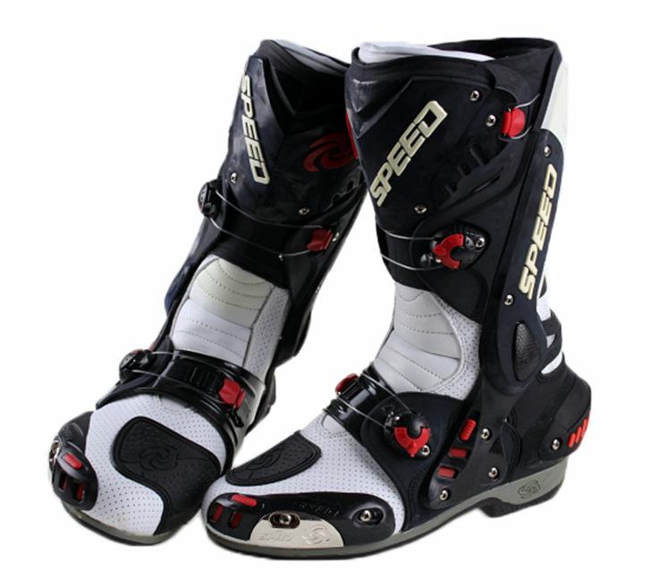 Free shipping B1003 PRO-BIKER Speed Hot Wheels racing boots motorcycle boots motorcycle boots shoes racing shoes / red