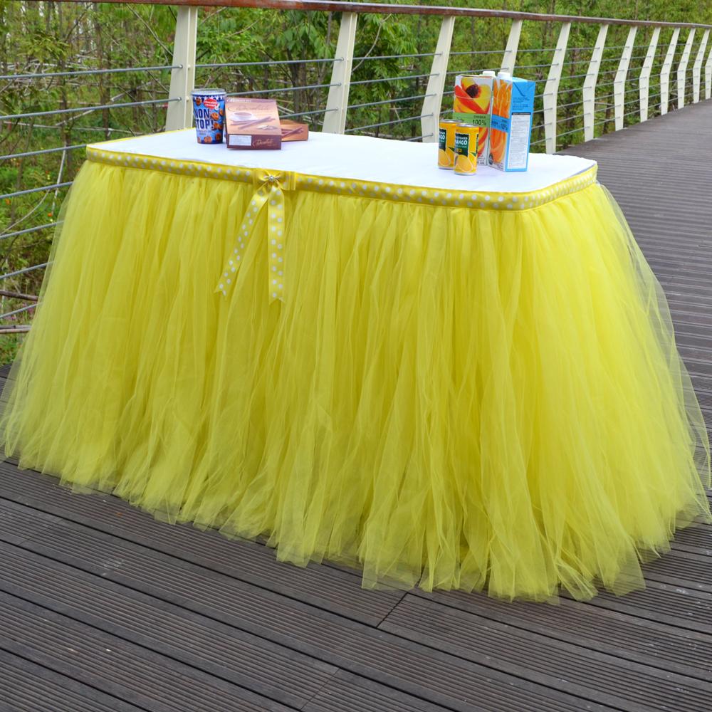 Как сделать юбку для стола из фатина своими
