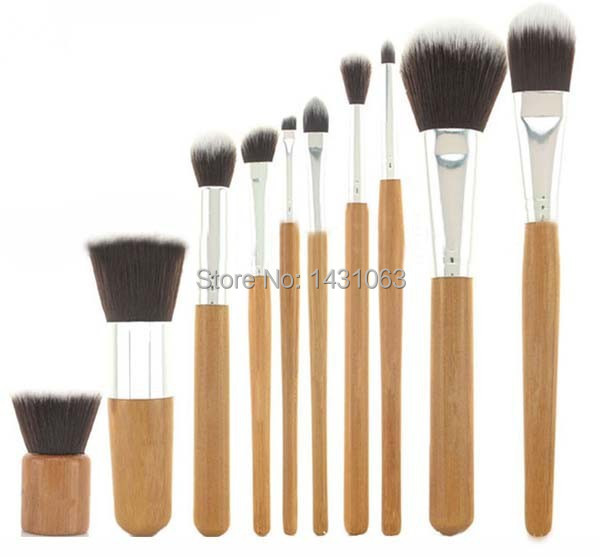 1Set Make Up Brush Set Tools Pro Cosmetic Brush Set Bamboo Handle Synthetic Makeup Brushes Kit(China (Mainland))