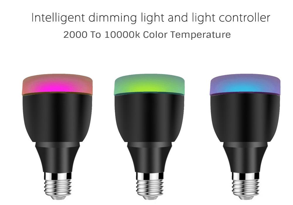 excelvan wt100 wifi enabled multicolor dimmable led light bulb free app for i. Black Bedroom Furniture Sets. Home Design Ideas