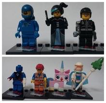 7pcs The Movie characters human torch Biznis uniKitty Wyldstyle Good Cop Vitruvius minifigures plastic bricks block toys(China (Mainland))