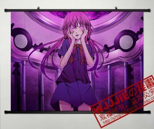 Anime Future Diary Gasai Yuno Home Decor Poster Wall Scroll 45*60CM WL018 - china tea 2000 store