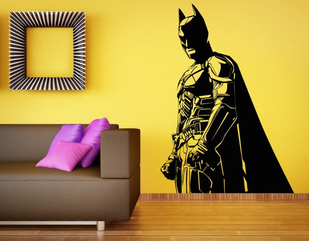 Online kaufen gro handel batman wandtattoo aus china for Batman wandtattoo