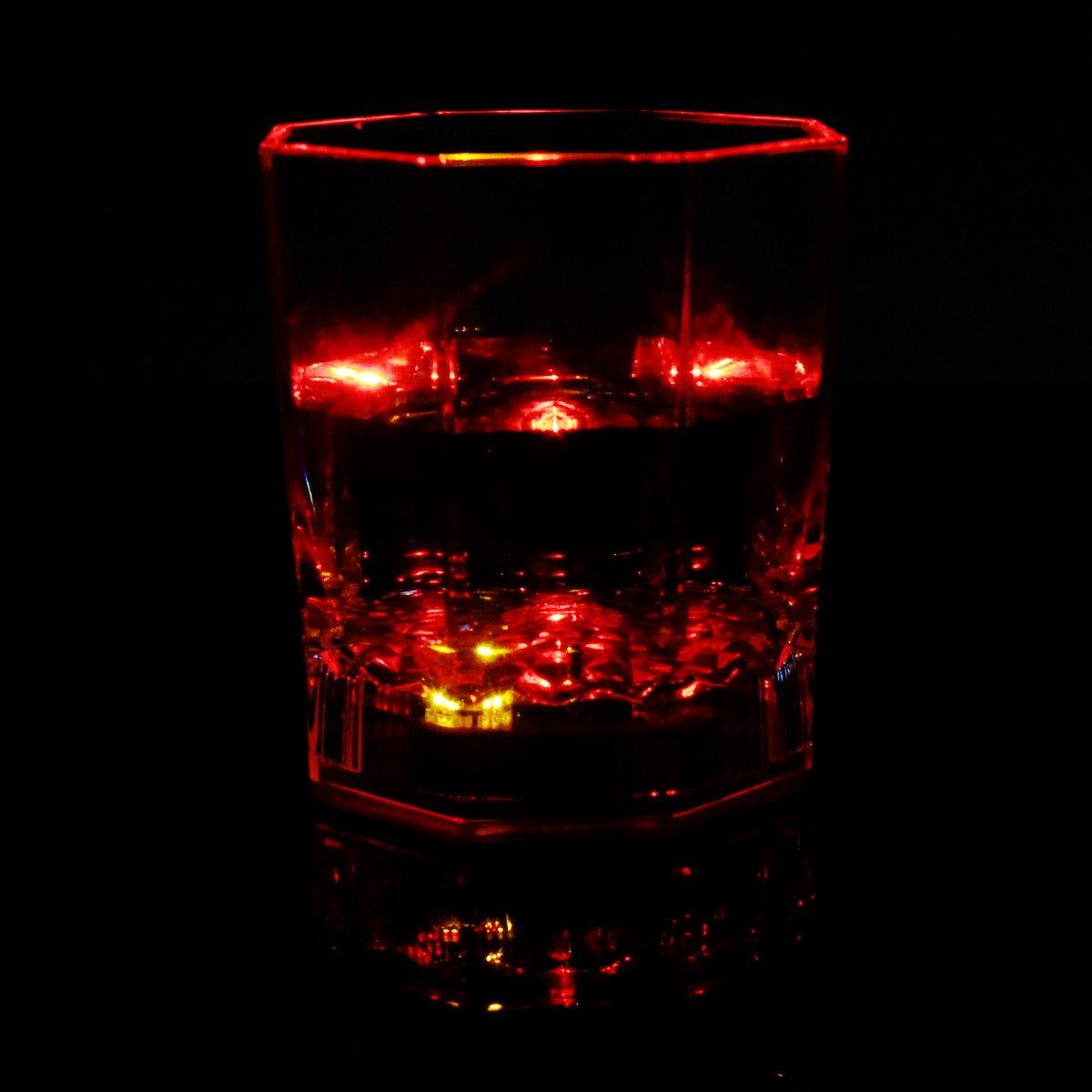 Colorful 5LED Flashing Light Whisky Decor Cup Beverage Bar Party Glowing(China (Mainland))