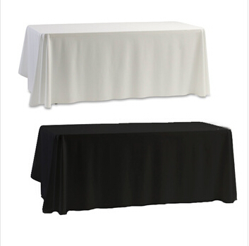 Tablecloth Table Cover White & Black for Banquet Wedding Party Decor 145x145cm 2015 new(China (Mainland))