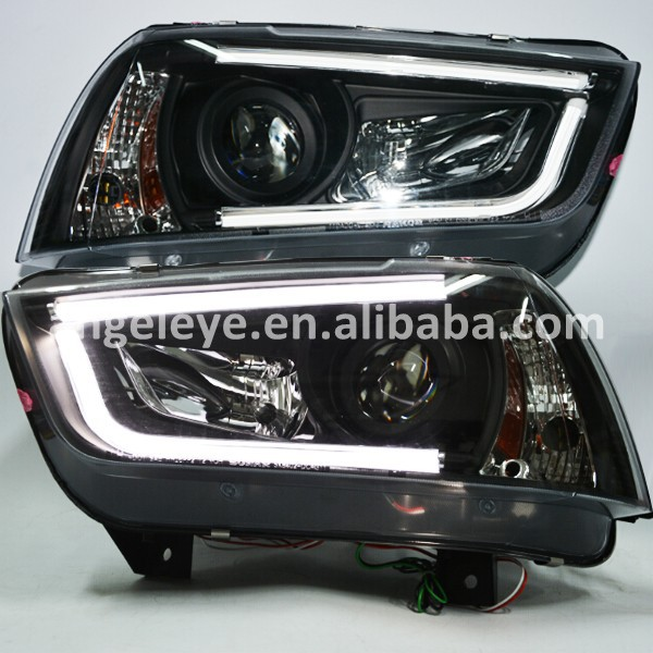 For DODGE Charger 2011-2014 Year LED Headlights LED Head Lamp Black Housing SN(China (Mainland))