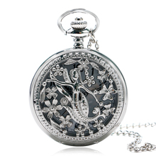 Buy Retro Elegant Cute Mermaid Charm Silver Quartz Pocket Watch Women Pendant Sweater Necklace Chain for $3.49 in AliExpress store