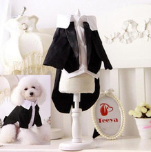 Buy XS-XXL Gentleman Dog Apparel Cat Puppy Dog Wedding Suit Tuxedo Clothes Costume Spring Summer Pet Clothing Wear for $5.83 in AliExpress store