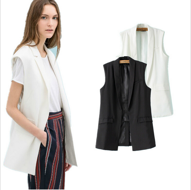 Fashion Women's Slim Vests 2015 Hot Sale Solid Waistcoat ...