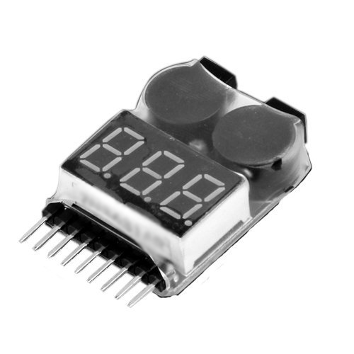 Hot!1-8S Lipo LiMn Battery Tester Low Voltage Buzzer Alarm<br><br>Aliexpress