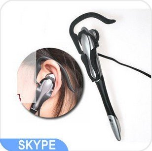Free shipping Good quality Cheap computer earphones headset with microphone for skype msn phone call(China (Mainland))