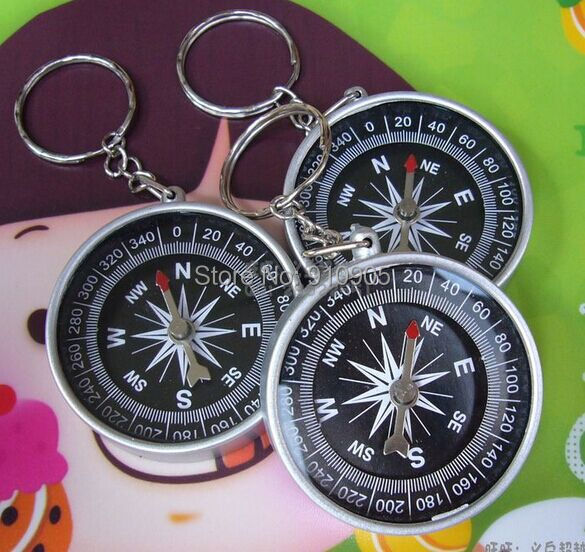 Creative puzzle toy keychain compass north arrow pointer American travel supplies gifts Factory directly sales 24pcs(China (Mainland))