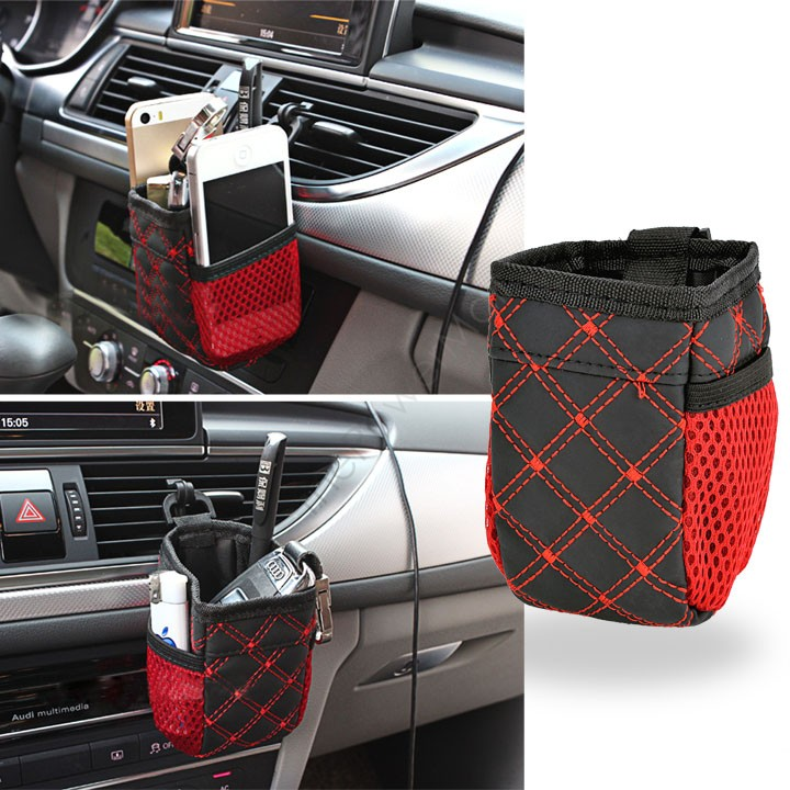 Гаджет  Mini Car Tuyere Grocery Bags Car Bag Cell Phone Pocket Car Pouch Glove Black-Red Car Storage Outlet Free Shipping #12 SV010360 None Автомобили и Мотоциклы