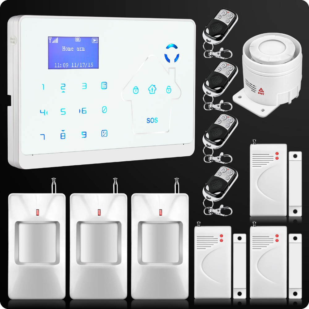 2016 M2 Intelligent Wireless Wired Dual Network GSM PSTN Home Burglar Security Alarm System For Home House Security Alarm System(China (Mainland))