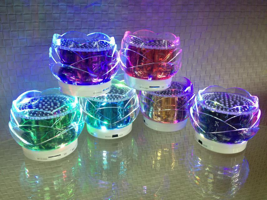 20Pcs/Lot Portable Mini Crystal Speaker Digital Computer Music Speakers Sound Box Support USB TF Card FM Radio For Cell phone(China (Mainland))
