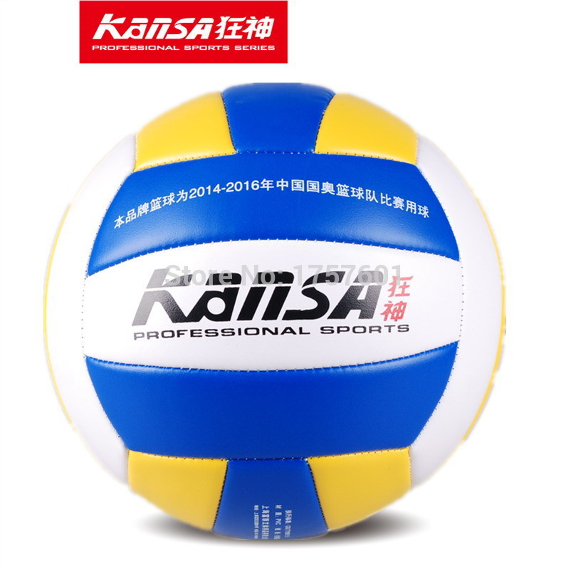 2015 Hot selling Chinese Olympic team co-brand KANSA1384 high quality indoor training competition volleyball ball(China (Mainland))