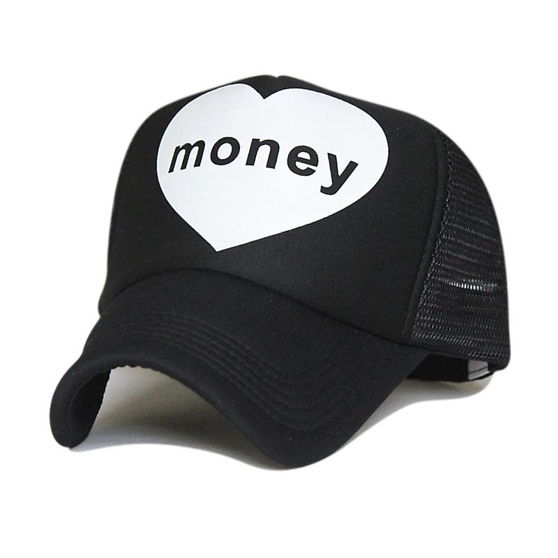 I LOVE MONEY female mesh hat hip-hop male cap pattern cotton baseball cap autumn outdoor sunscreen truck cap unisex sunhat 1pcs(China (Mainland))