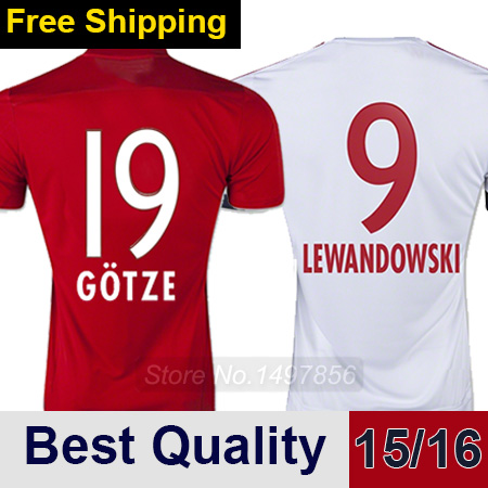 Free Shipping GERMANY Jerseys 2016 Thai Quality ROBBEN MULLER Home Away Soccer Jersey Football Shirts 15/16 camisa futebol(China (Mainland))