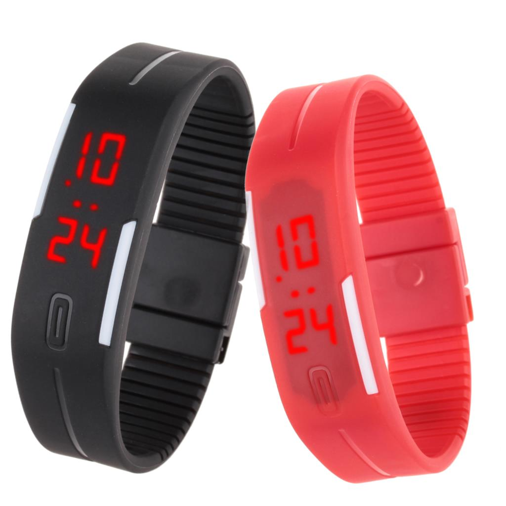 2015 Cheap New Outdoor Sports Watch women Casual LED bracelet watches For men and women Rubber