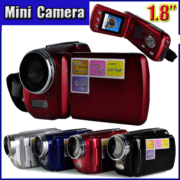 2014 Top 4 x Digital DV Video Camcorder Recorder With SD MMC Card Slot Mini Series
