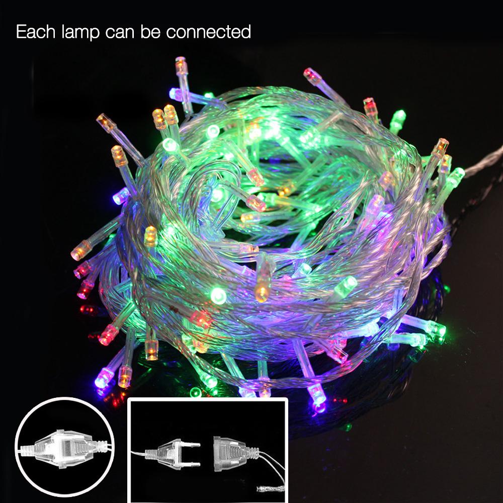 AC 110V/220V 10M 50Leds outdoor Led string lights fairy christmas light for Christmas Tree wedding party garland with tail plug(China (Mainland))