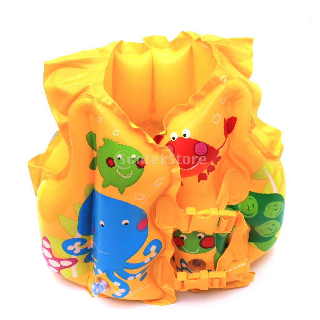 New 2014 Brand New Inflatable Swimming Vest Training Swim Trainer Vest for kids Free Shipping(China (Mainland))