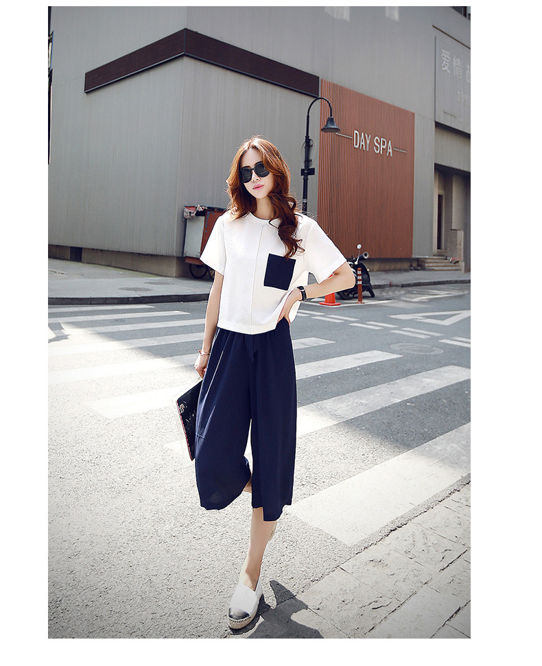 Elegant Women T-shirt skirt Two piece suit Chiffon Relaxed leisure O-Neck Short sleeve motion Thin material female clothing sets