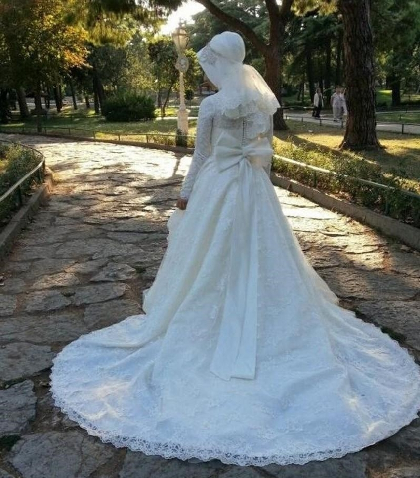 Muslim Wedding Dresses Cape Town : Arabisch lange h?lsen spitze muslimischen hochzeitskleid ballkleid