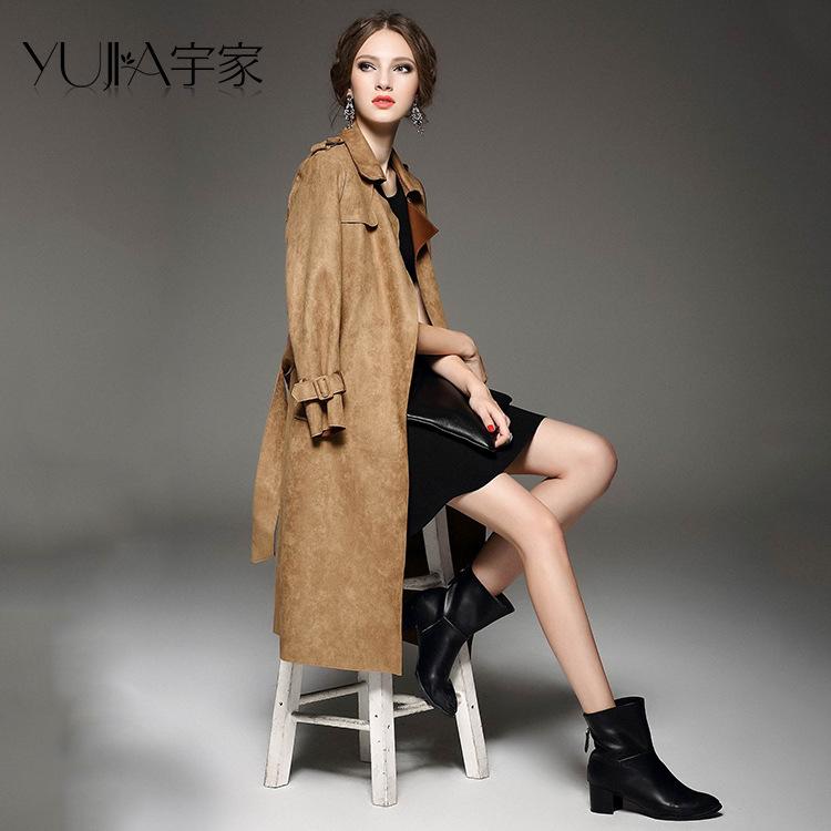(Bust 98 cm) Fleece coat female European and American wind fall and winter jacket coat Slim suede suede lace long coat SMLÎäåæäà è àêñåññóàðû<br><br>
