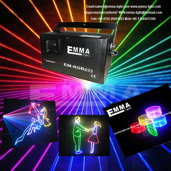 mini 1.2w rgb full color laser 3d/laser image/ laser advertising projector(China (Mainland))