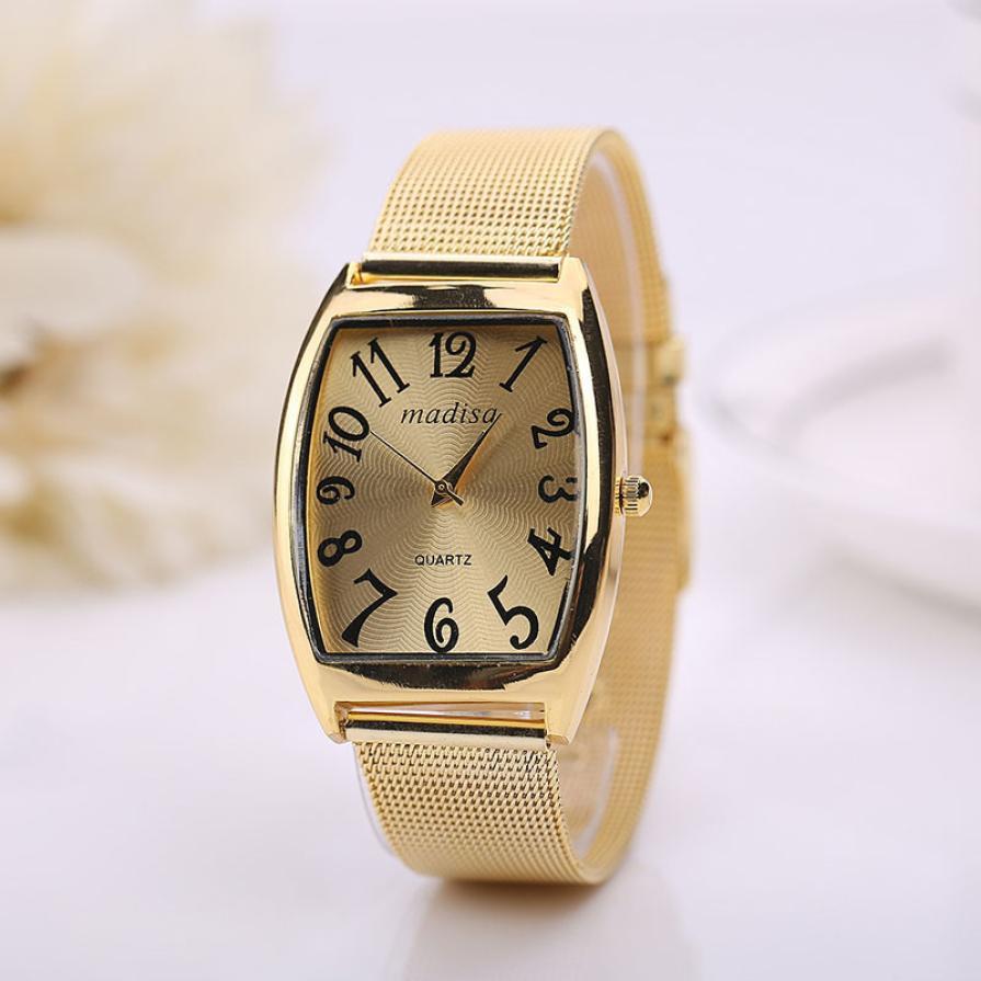 Hot Marketing Rectangular Head Women Lady Classic Quartz Stainless Steel Wrist Watch MAY27(China (Mainland))