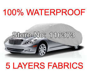 5 Layer Car Cover Fit Outdoor Water Proof Indoor for FORD MUSTANG COUPE 1994 1995 1996 1997 1998(China (Mainland))