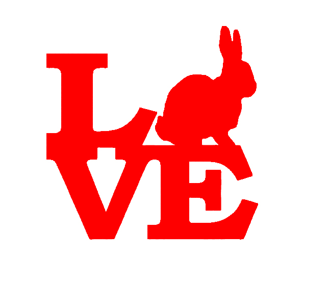 Wholesale 50pcs/lot Rabbit Love Vinyl Decal For Truck Bumper Car Sticker Cotton Tail Beagle Home decor Bunny Easter Breeding Box(China (Mainland))