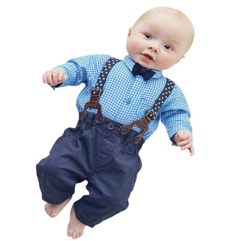 2016 Spring Autumn Children Clothes Sets Baby Toddler Kids Boy font b Plaid b font Tops