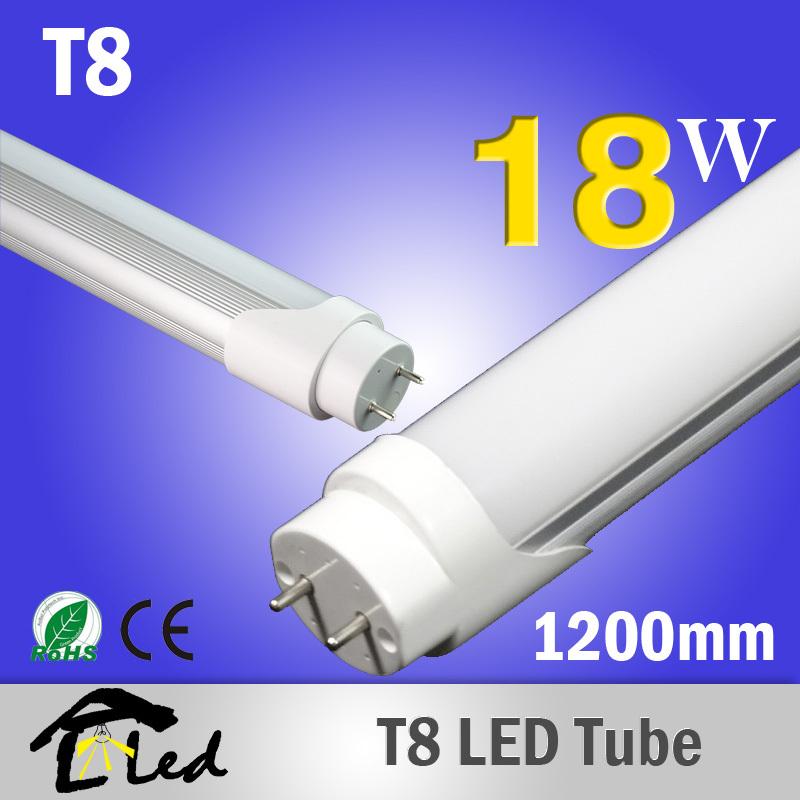 Wholesale 10pcs Lot Led Tube T8 1200mm 18w Led Bulbs Tubes Light Fluorescent Tubetes 120cm Smd
