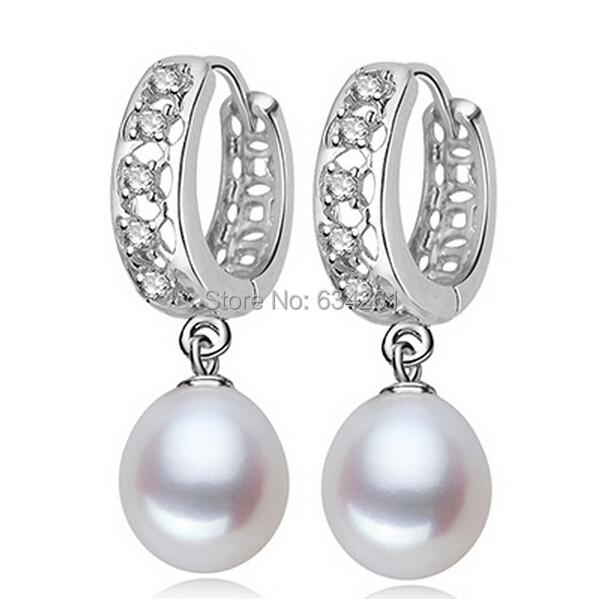 Серьги-кольца Pearl earrings ,