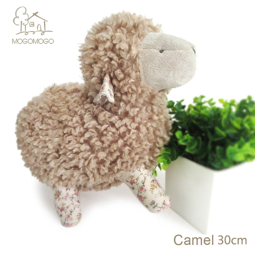 Shanghai manufacturer 30cm hand-made cute camel standing sheep plush toys,stuffed animals, doll/toy 100% linen plush toys(China (Mainland))