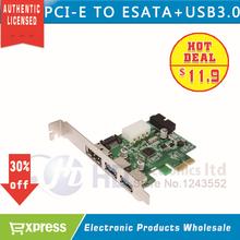 Power Over eSATA eSATAp II & USB 3.0 USB3.0 to PCI-E PCI Express Card w/ Motherboard 20 pin Connector